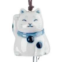 Lucky Cat Ceramic Japanese Wind Chime