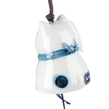Lucky Cat Ceramic Japanese Wind Chime back