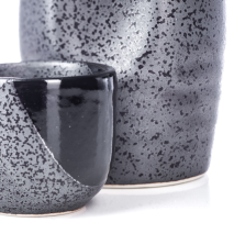 Black Nanban Traditional Japanese Sake Set detail