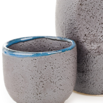 Charcoal Grey 5pce Japanese Sake Set cup