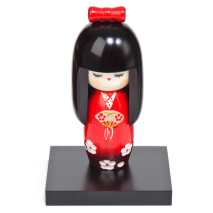 Dance Girl Authentic Wooden Kokeshi Doll Display Base