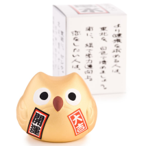 Feng Shui Good Fortune Japanese Lucky Owl with gift box