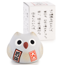 Feng Shui Good Health Japanese Lucky Owl with gift box