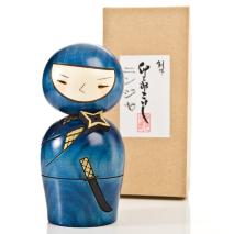 Ninja Authentic Japanese Kokeshi Doll Gift Box