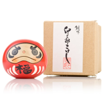 Red Happiness Daruma Kokeshi Doll Gift Box