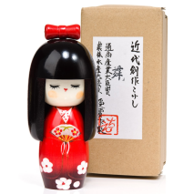 Dance Girl Authentic Wooden Kokeshi Doll Gift Box