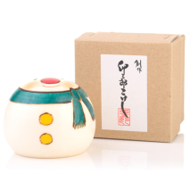 Medium Snowman Handpainted Kokeshi Doll Gift Box