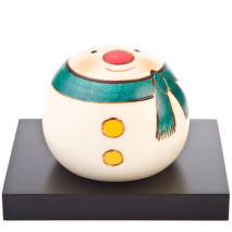 Medium Snowman Handpainted Kokeshi Doll Display Base