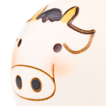 Small Year of the Cow Birthday Kokeshi Doll Close Up