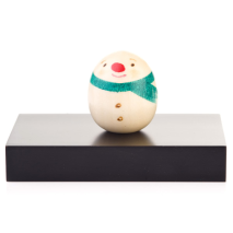Snowman Miniature Japanese Kokeshi Doll Base