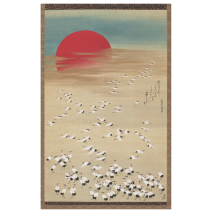 Thousand Storks Japanese Greetings Card
