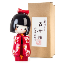 Japanese Maiden Authentic Kokeshi Doll Gift Box