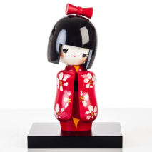 Japanese Maiden Authentic Kokeshi Doll Display Base