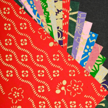 Small Premium Japanese Washi Origami Paper close up
