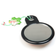 Cream Japanese Compact Mirror back