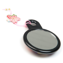 Purple Japanese Compact Mirror back