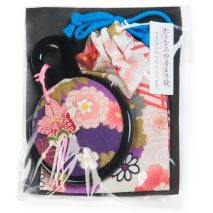 Purple Japanese Compact Mirror set