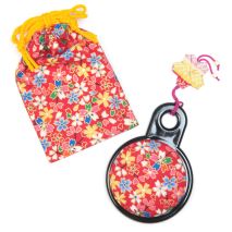 Red and Orange Japanese Compact Mirror