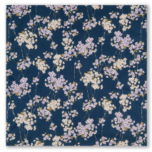 Small Navy Cherry Blossom Japanese Furoshiki