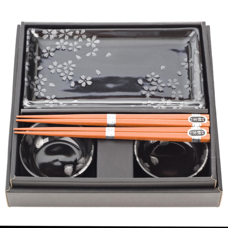 Ginsai Sakura Japanese Sushi Set Gift Box
