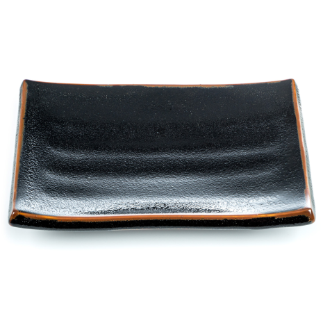 Tenmoku Black Japanese Dinner Plate