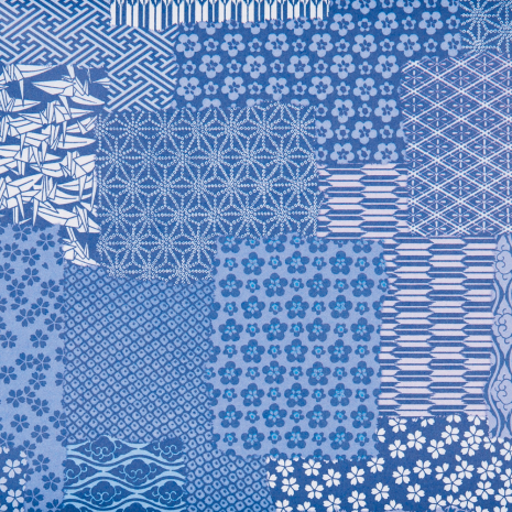 Blue Crane Japanese Wrapping Paper
