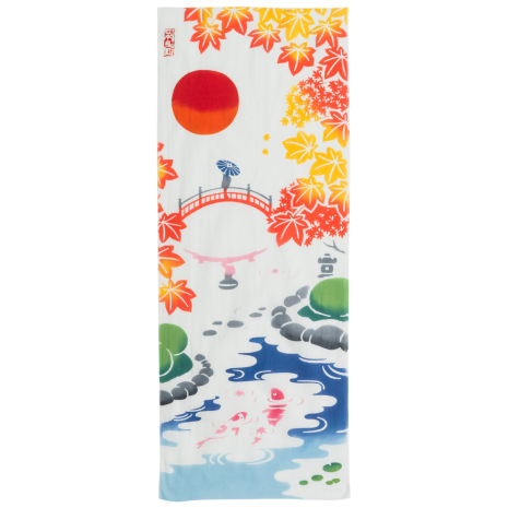 Garden Beauty Japanese Cotton Tenugui