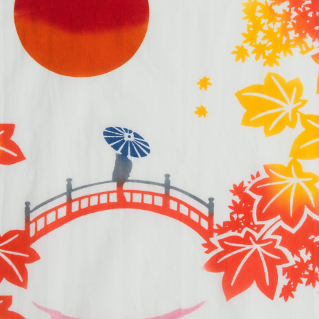 Garden Beauty Japanese Cotton Tenugui detail