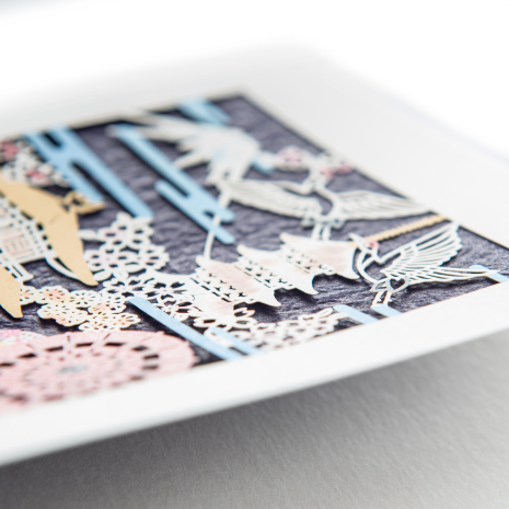 Lasercut Traditional Japanese Greetings Card detail