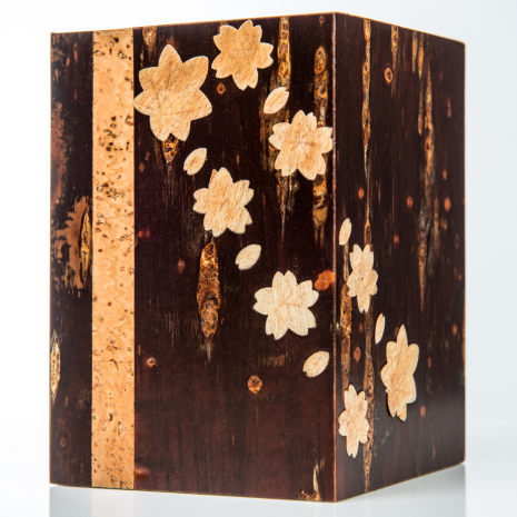 Handmade Cherry Bark Japanese Pen Box side