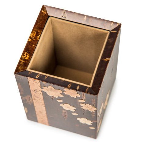 Handmade Cherry Bark Japanese Pen Box above
