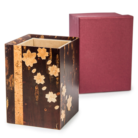 Handmade Cherry Bark Japanese Pen Box with gift box