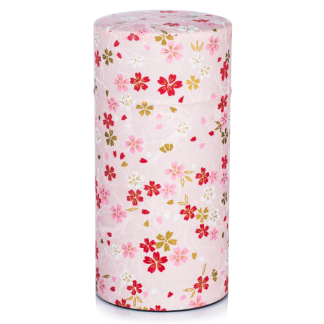 Large Pink Japanese Tea Caddy closed