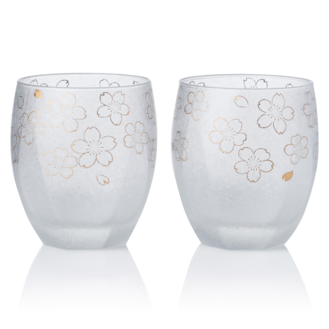 Pair of Sakura Premium Japanese Tumblers
