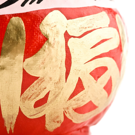 Large Red Japanese Daruma Doll Lucky God detail