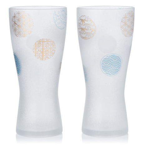 Set of 2 Marumon Premium Japanese Beer Glasses