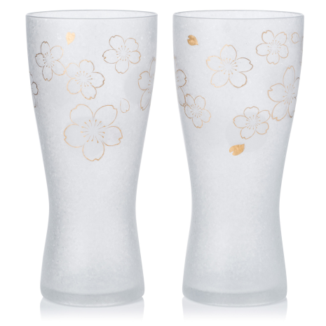 Set of 2 Sakura Premium Japanese Beer Glasses