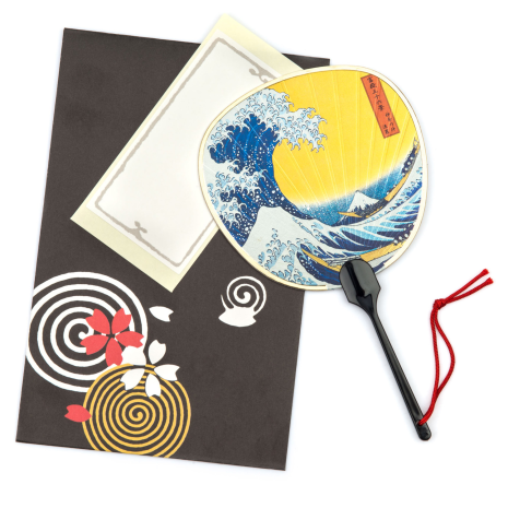 The Great Wave Japanese Fan Card set