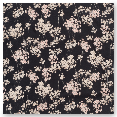 Black Cherry Blossom Ladies Japanese Handkerchief