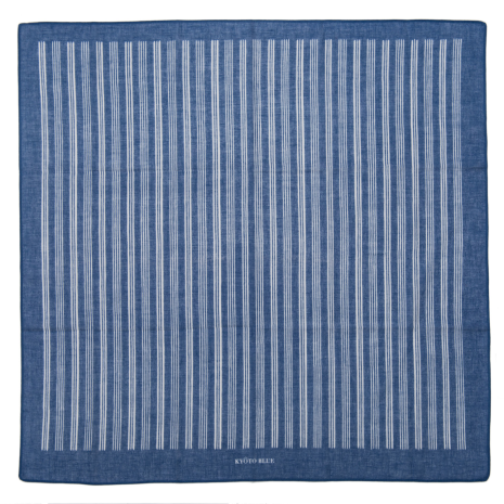 Blue Stripe Japanese Cotton Handkerchief