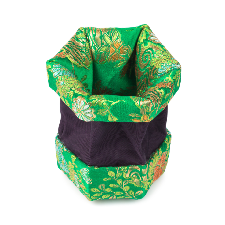 Green Floral Traditional Japanese Jewellery Box open