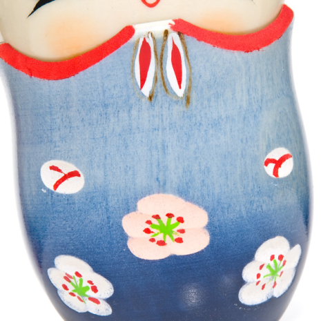 Memory Blue Trinket Box Kokeshi Doll detail