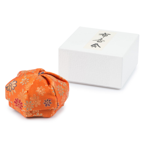 Orange Floral Traditional Japanese Jewellery Box and gift box