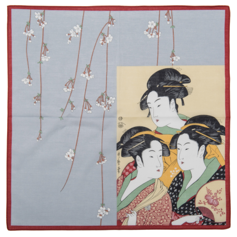 Utamaro Traditional Japanese Handkerchief