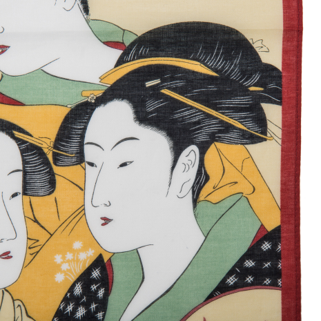 Utamaro Traditional Japanese Handkerchief detail