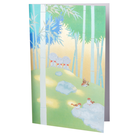 Buddhas in a Bamboo Forest Japanese Card