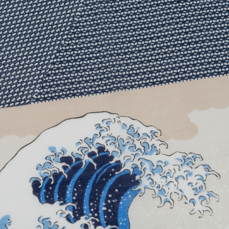 The Great Wave Japanese Handkerchief detail