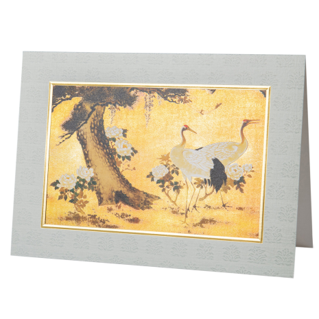 Two Cranes Large Japanese Greetings Card