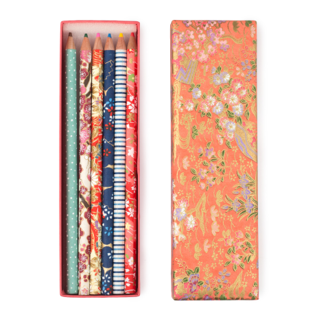 Washi Paper Coloured Japanese Pencil Box