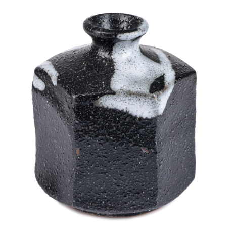 Black Ichirin Sashi Japanese Mini Vase